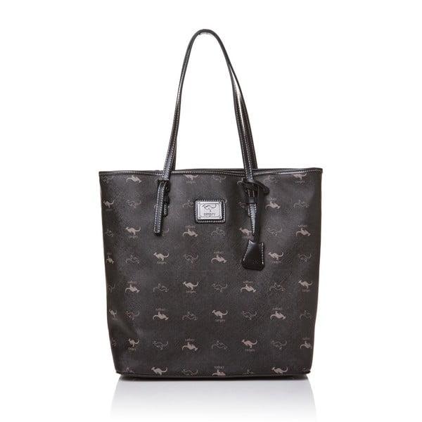 Skórzana torebka przez ramię Canguru Tag, czarna