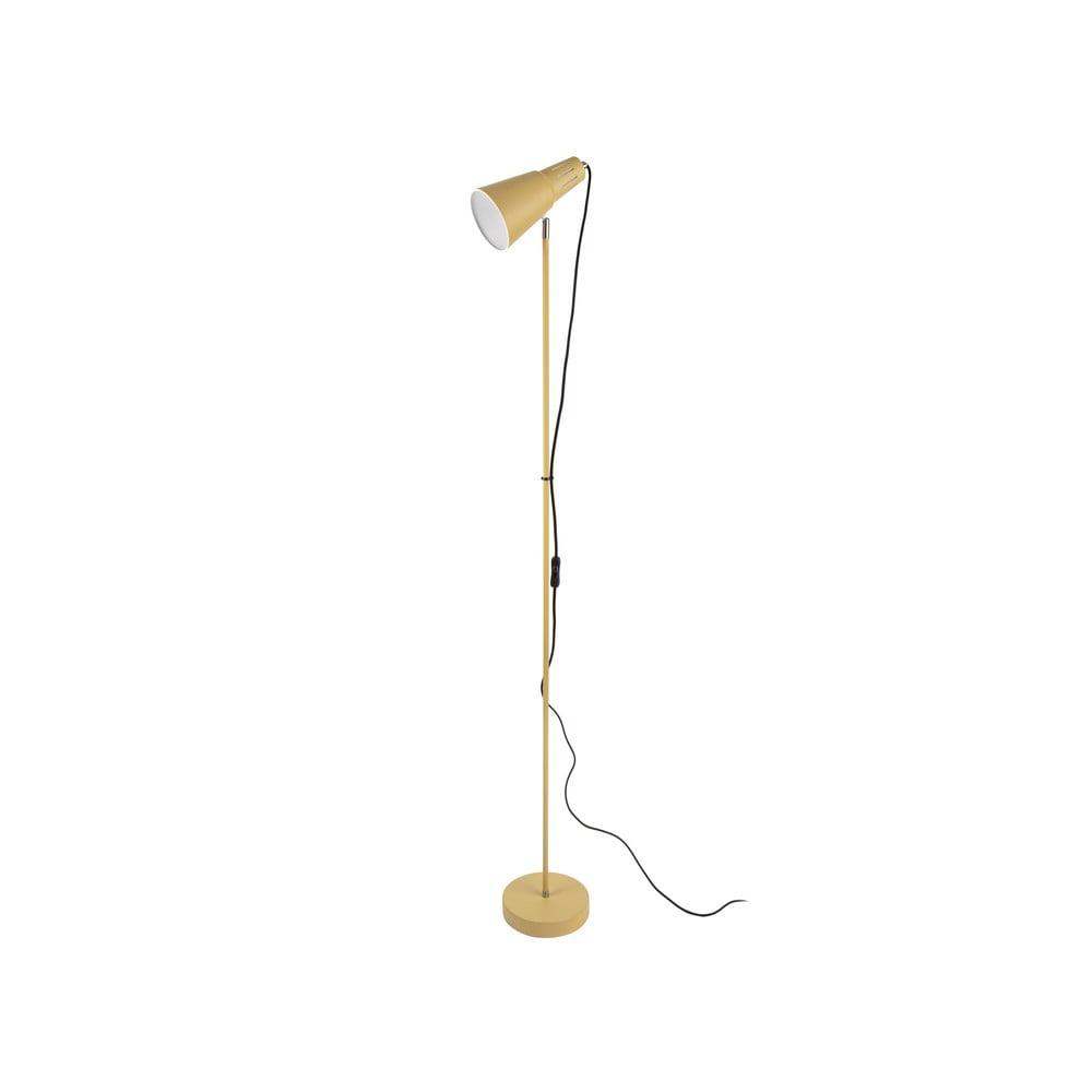 Musztardowożółta lampa stojąca Leitmotiv Mini Cone,wys.147,5cm