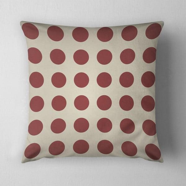 Poduszka Big Red Dots, 43x43 cm