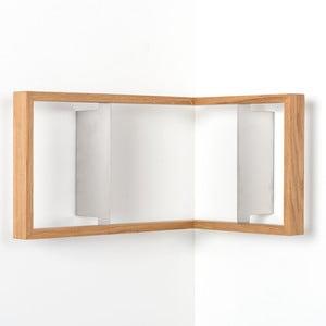 Narożna półka na książki z drewna dębowego das kleine b b2, 50x35x35cm