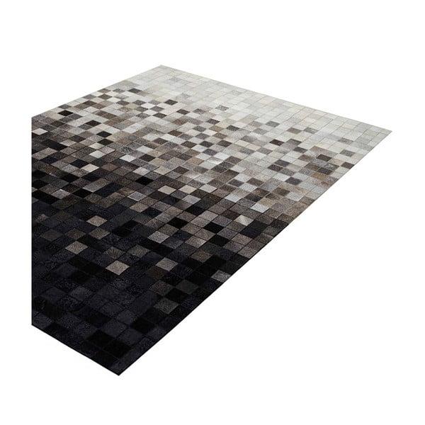 Dywan skórzany Sao Paulo Black, 70x140 cm