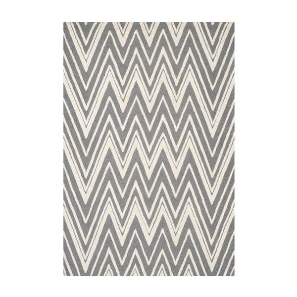 Wełniany dywan Luca Grey, 182x274 cm