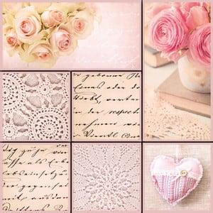 Komplet 7 magnesów dekoracyjnych Eurographics Remember Romance