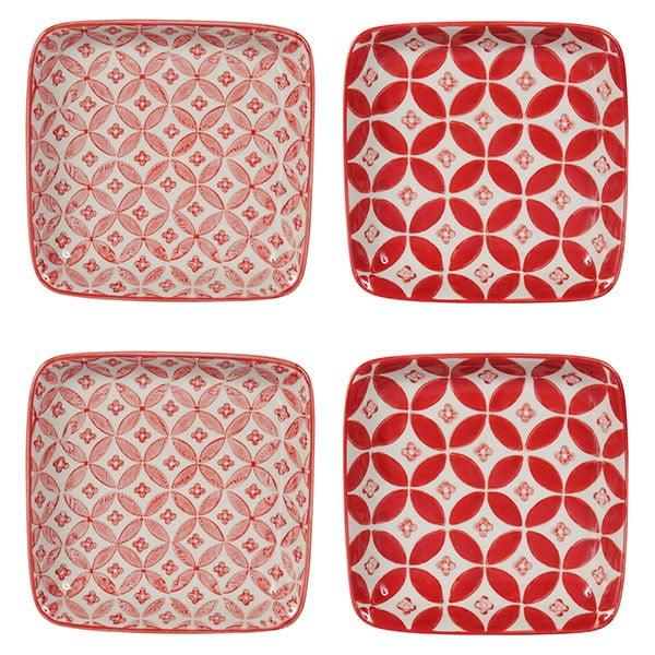Zestaw 4 porcelanowych talerzy Rubis, 12.5 cm
