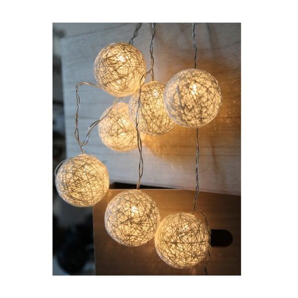 Biała girlanda świetlna LED Best Season Jolly Lights, 10 kul