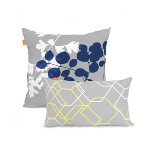 Zestaw 2 bawełnianych poszewek na poduszki Blanc Meraki, 50x50cm