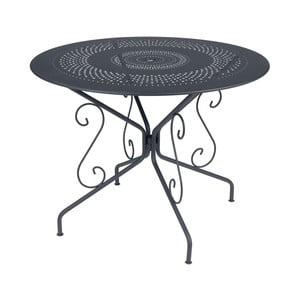 Antracytowy stół metalowy Fermob Montmartre, Ø 96 cm