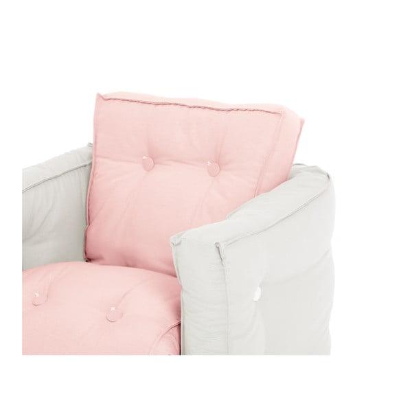 Jasnoróżowy dziecięcy fotel rozkładany Karup Mini Dice