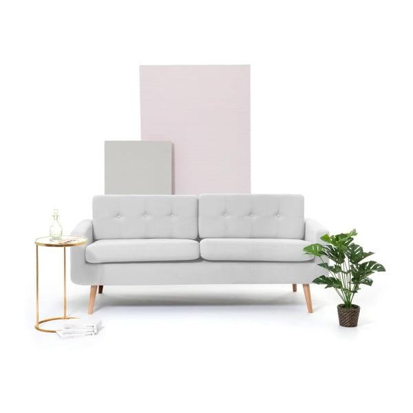 Jasnoszara sofa 3-osobowa Vivonita Ina