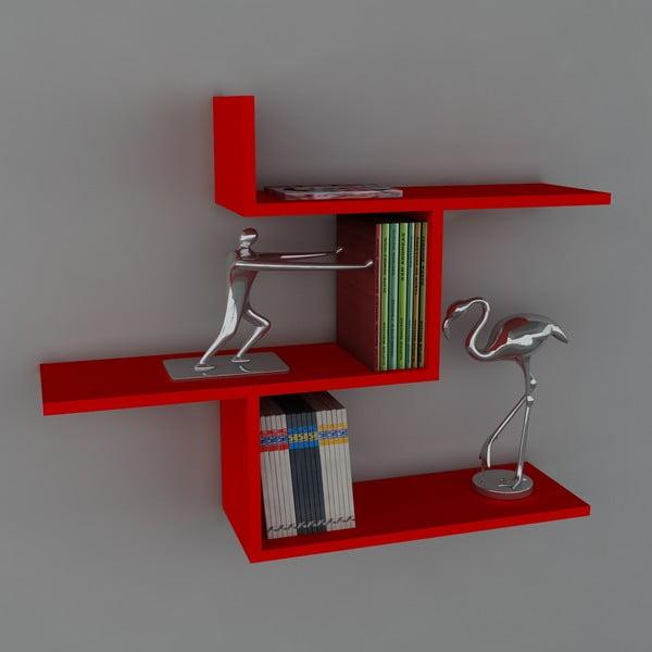 Półka Bien Book Red, 22x89,5x70,5 cm