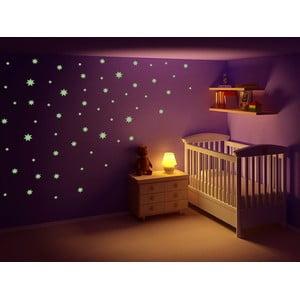 Świecąca w ciemności naklejka Gwiazdeczki, 60x30 cm