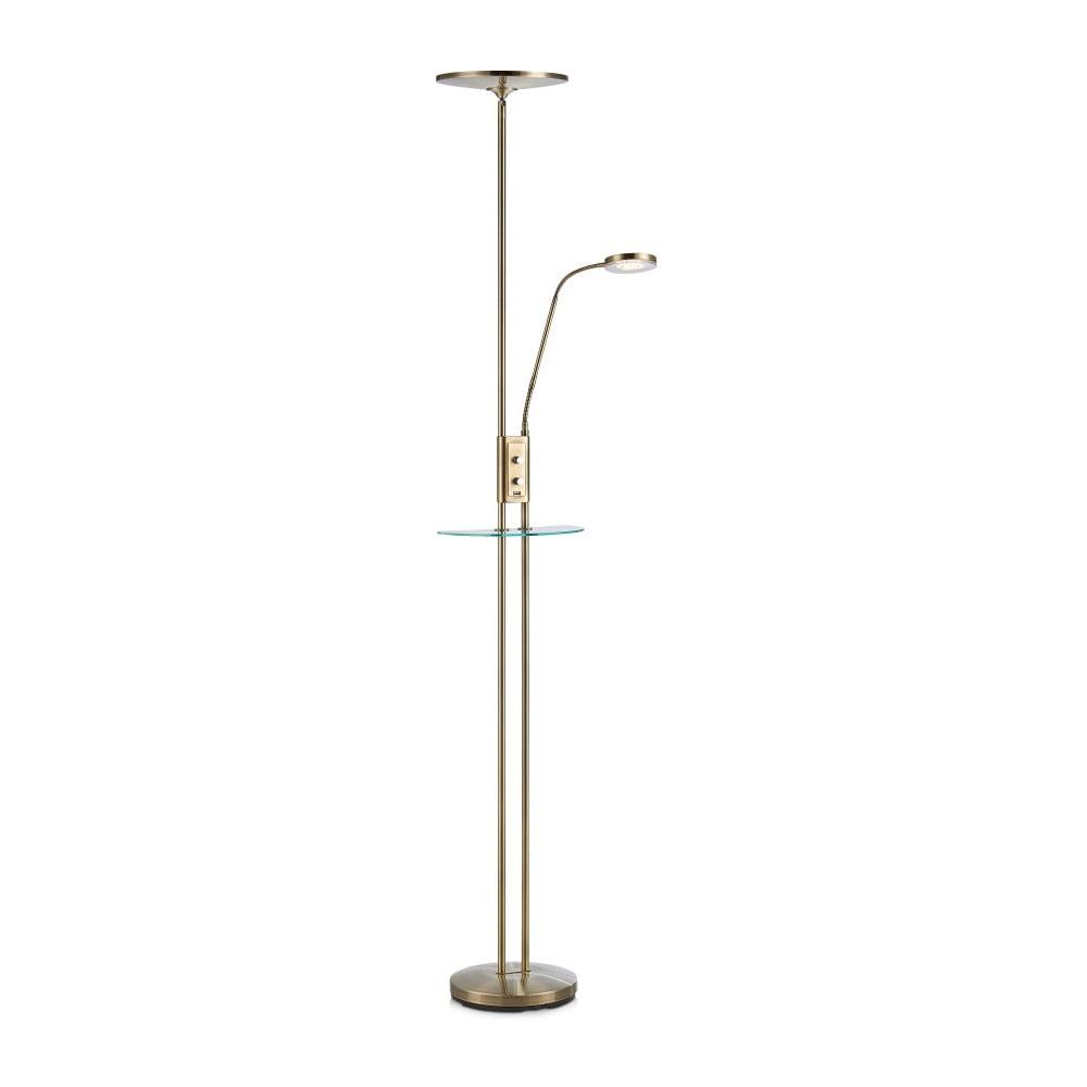 Lampa stojąca z LED w mosiądzowej barwie Markslöjd Friend Uplight