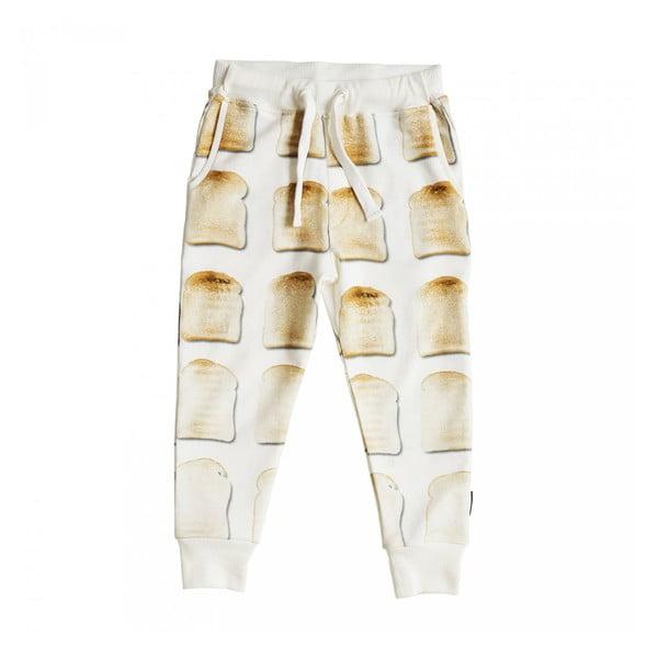 Białe spodnie dziewczęce Snurk Toast, 104