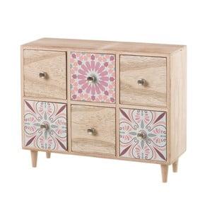 Różowa szafka z 6 szufladami Unimasa
