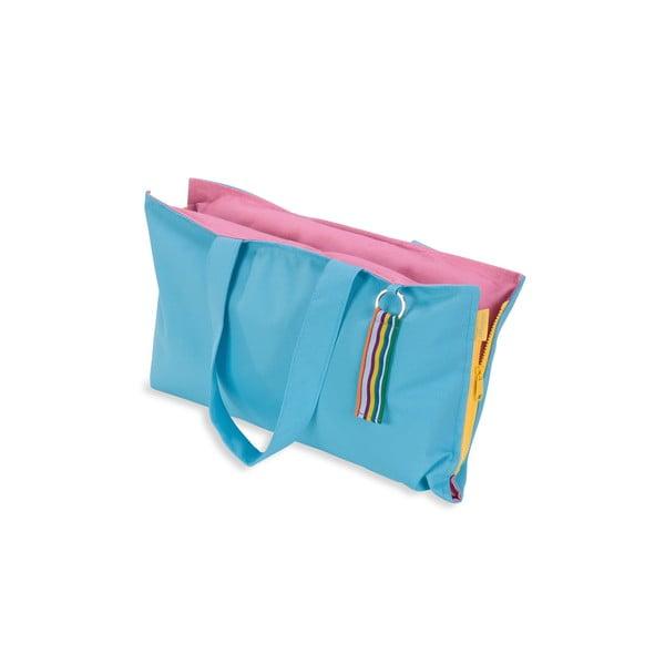 Przenośne siedzisko + torba Hhooboz 50x60 cm, turkusowe
