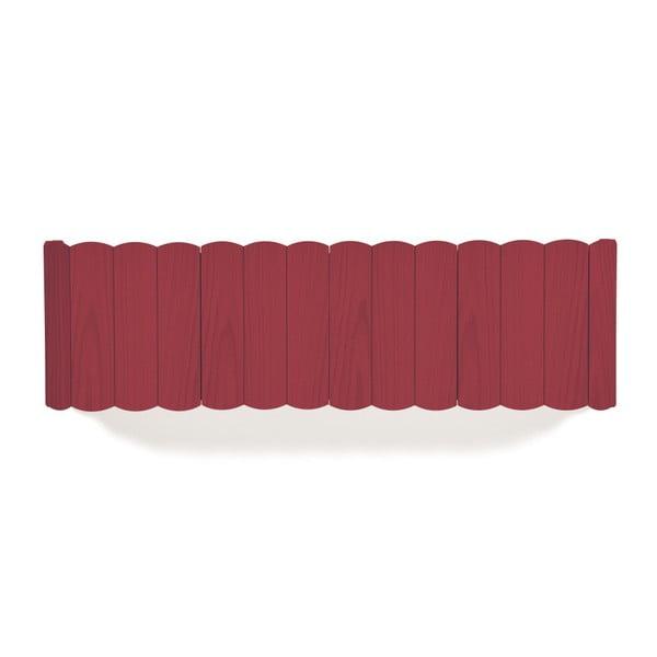 Czerwona półka z drewna bukowego HARTÔ, dł. 124 cm