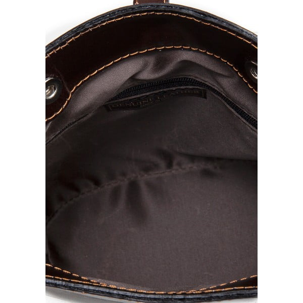 Ciemnobrązowa torebka skórzana Massimo Castelli Silverio