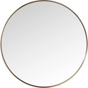 Lustro okrągłe w ramie w miedzianej barwie Kare Design Round Curve, ⌀100cm