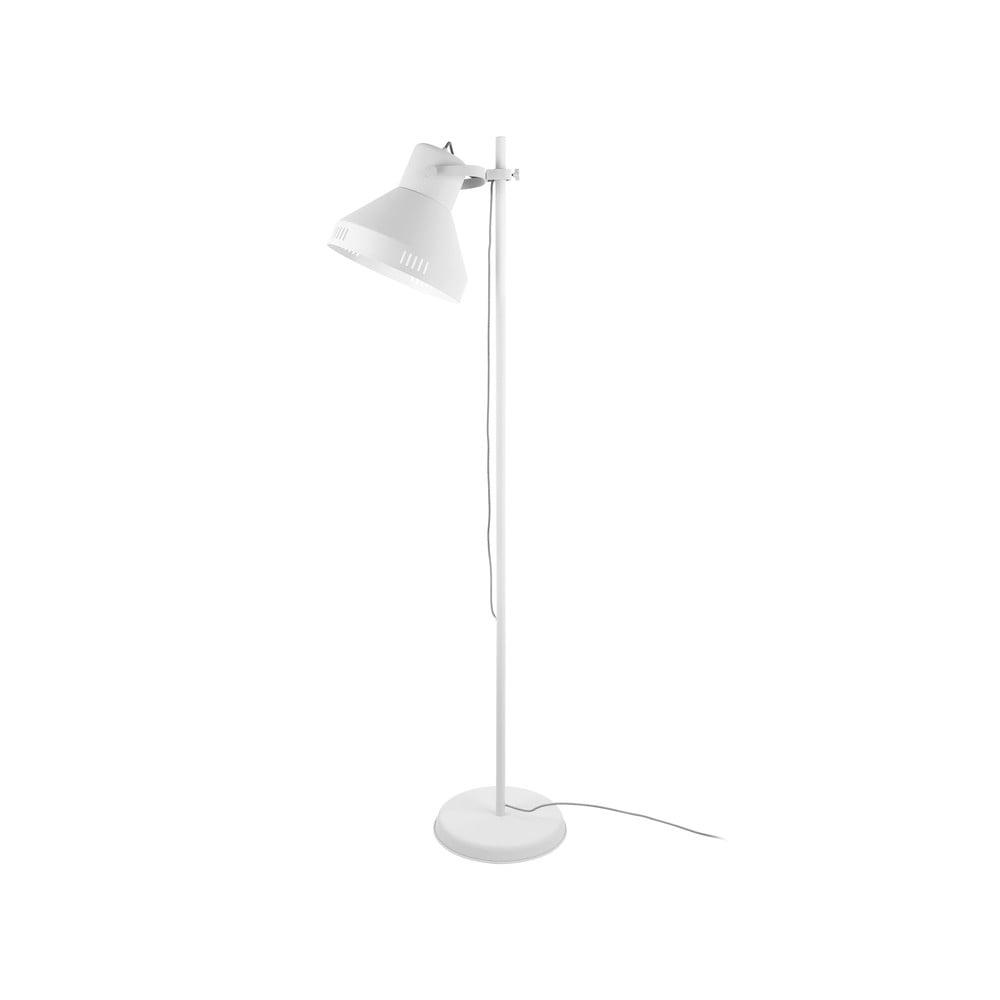Biała lampa stojąca Leitmotiv Tuned Iron,wys.180cm
