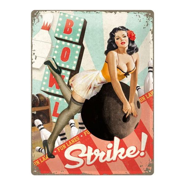 Blaszana tabliczka Bowl Strike, 30x40cm