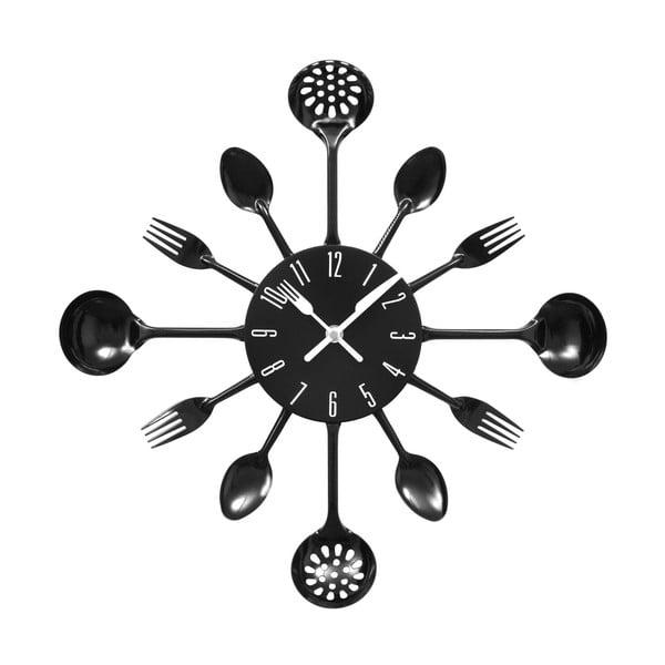 Zegar Black Cutlery, 43 cm