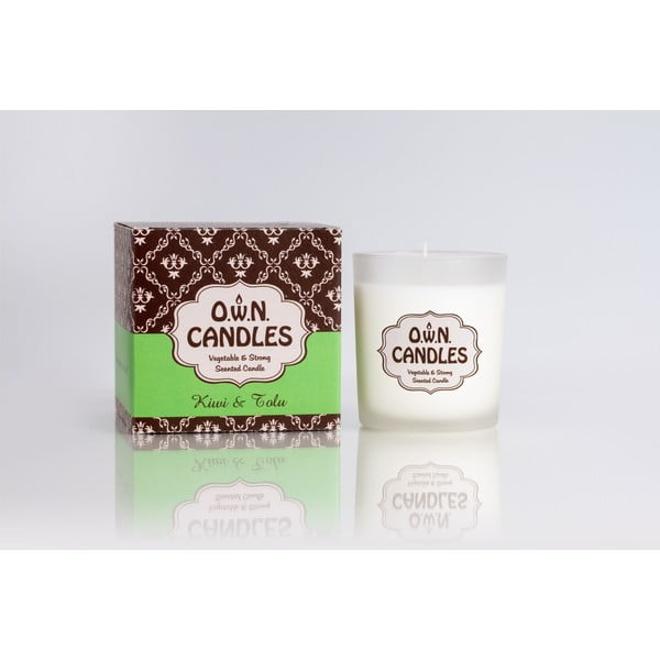 Świeczka zapachowa Kiwi and Tolu w opakowaniu podarunkowym