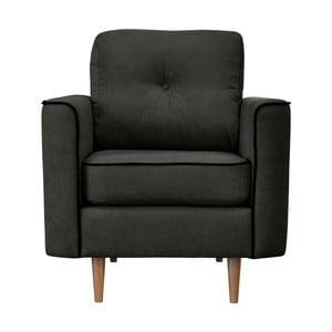 Czarny fotel z jasnymi nogami Mazzini Sofas Butterfly