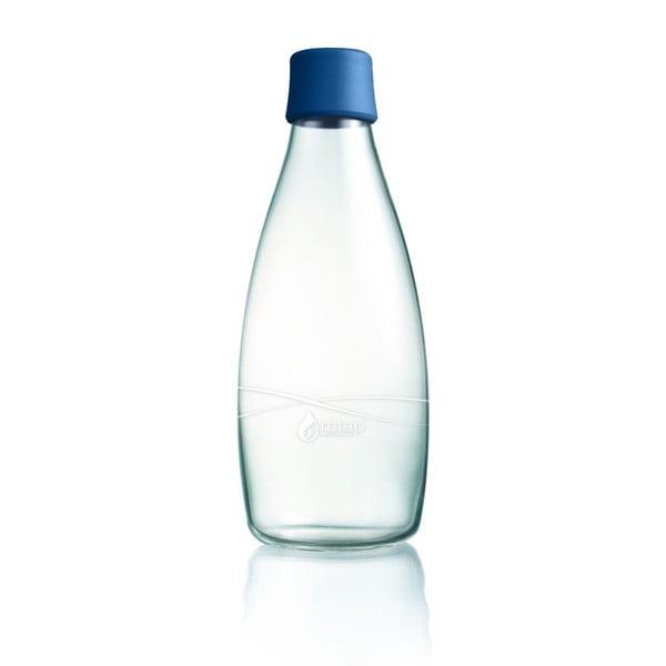 Granatowa butelka ze szkła ReTap z dożywotnią gwarancją, 800 ml