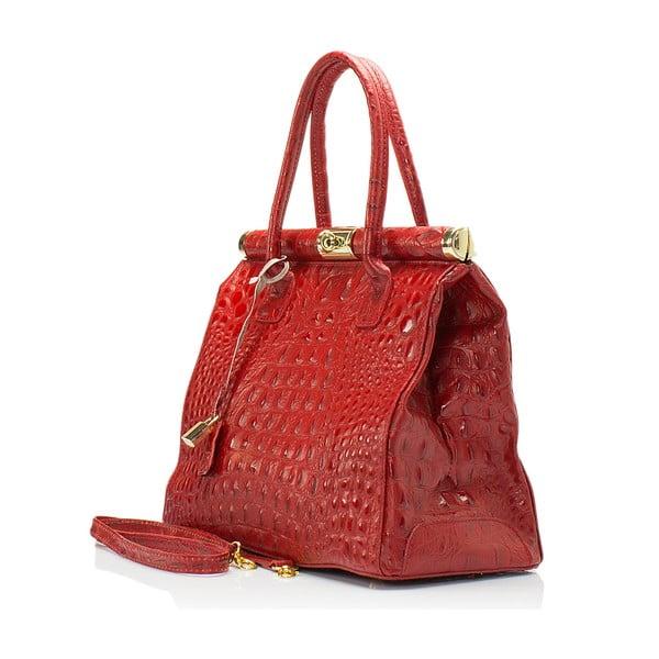 Czerwona torebka skórzana Lisa Minardi Lantha