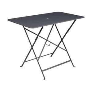 Antracytowy stolik ogrodowy Fermob Bistro, 97x57 cm