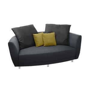 Sofa dwuosobowa Viotti Anthracite/Yellow