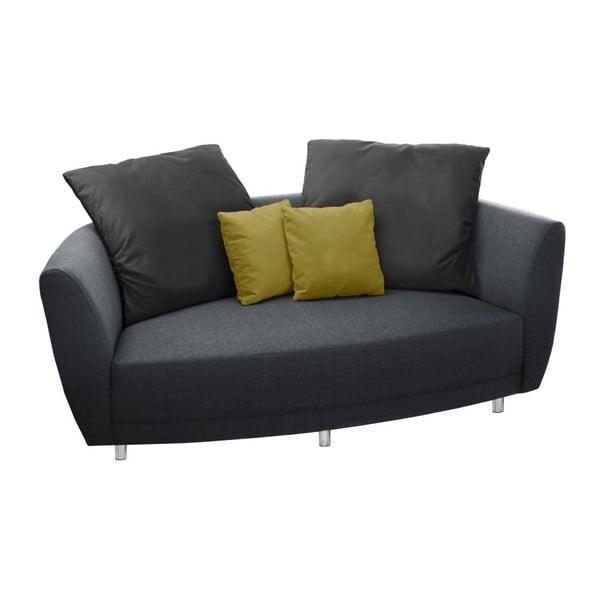 Sofa dwuosobowa Viotti Anthracite/Yellow