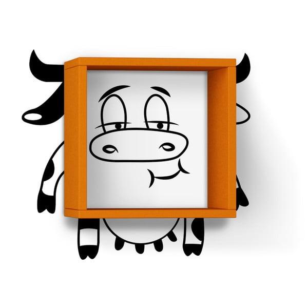 Półka z naklejką Cow Orange