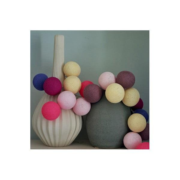 Girlanda świetlna Cotton Candy, 20 światełek