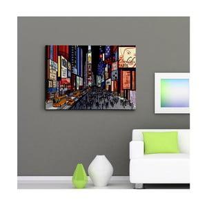 """Obraz na płótnie """"Time Square nocą"""", 50x70 cm"""