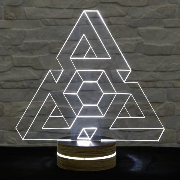 Lampa 3D stołowa Triangle I