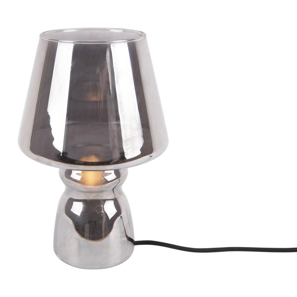 Szara szklana lampa stołowa Leitmotiv Classic Glass,ø16cm