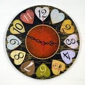 Zegar ścienny Hearts, 30 cm