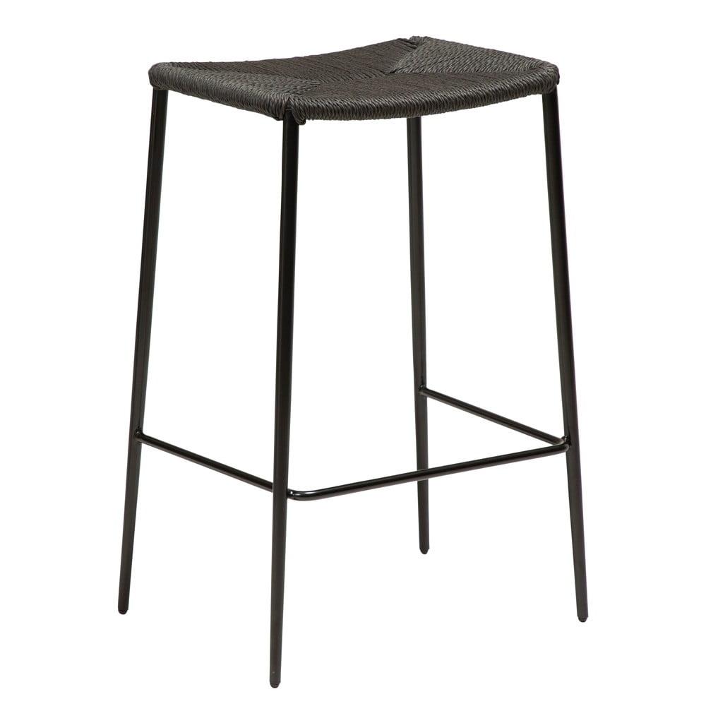 Czarny hoker ze stalowymi nogami DAN-FORM Stiletto