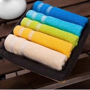 Zestaw 5 ręczników Smoked Basket, 30x50 cm