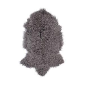 Ciemnoszara skóra owcza z długim włosiem Hyggur, 85x50cm