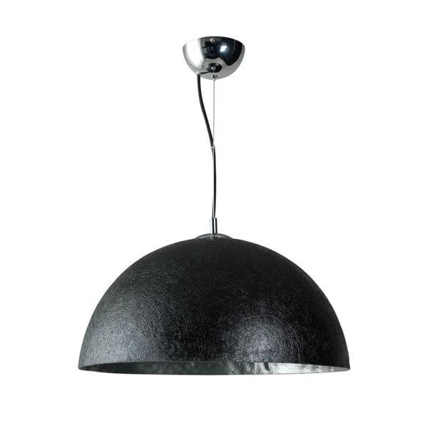 Czarno-srebrna lampa wisząca ETH Mezzo Tondo, ⌀ 50 cm