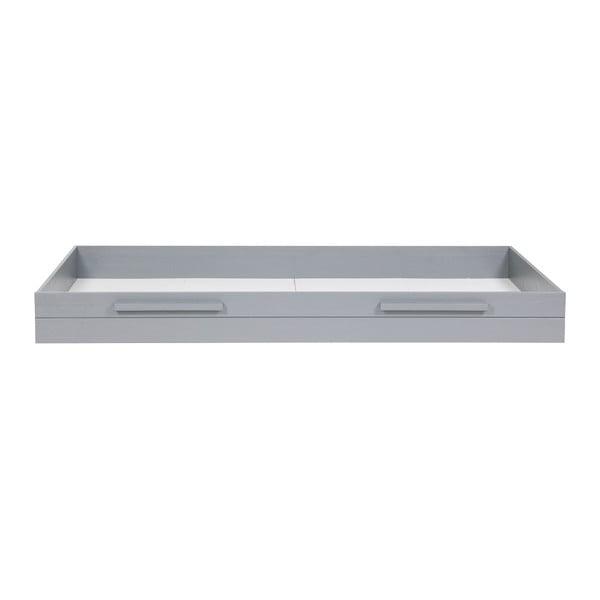 Szara szuflada pod łóżko Dennis 90x200 cm