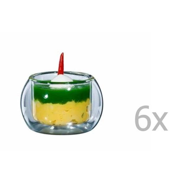 Zestaw 6   średnich szklanek bloomix Rondo