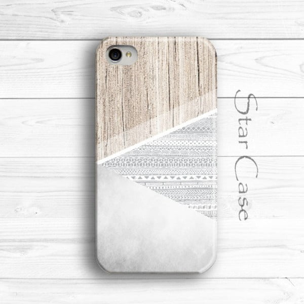 Etui na iPhone 5/5S Wood Aztec Grey