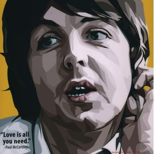 "Obraz ""Paul McCartney - Love is all you need"""