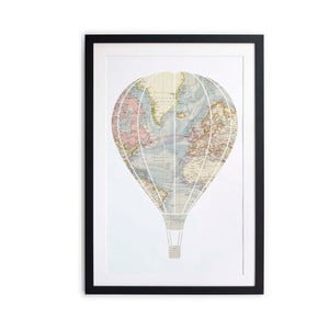Obraz Little Nice Things Hot Air Balloon, 40x60 cm