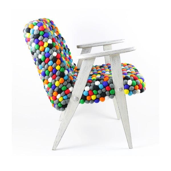 Ręcznie wykonany kulkowy fotel Pills