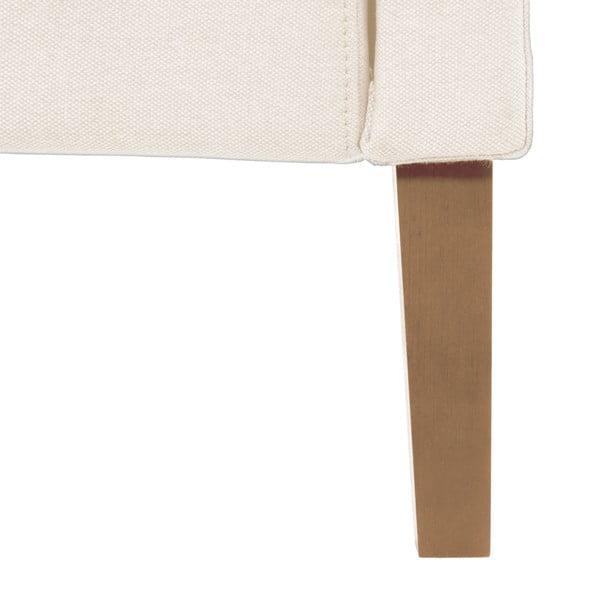 Kremowe łóżko z naturalnymi nóżkami Vivonita Windsor, 160x200 cm