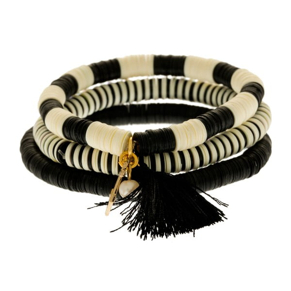 Bransoletka Sequin, czarna